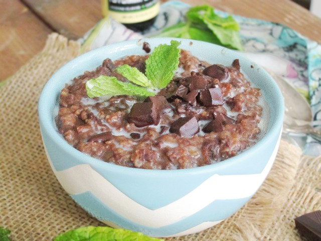 Thin Mints Oatmeal #vegan #oatmealartist