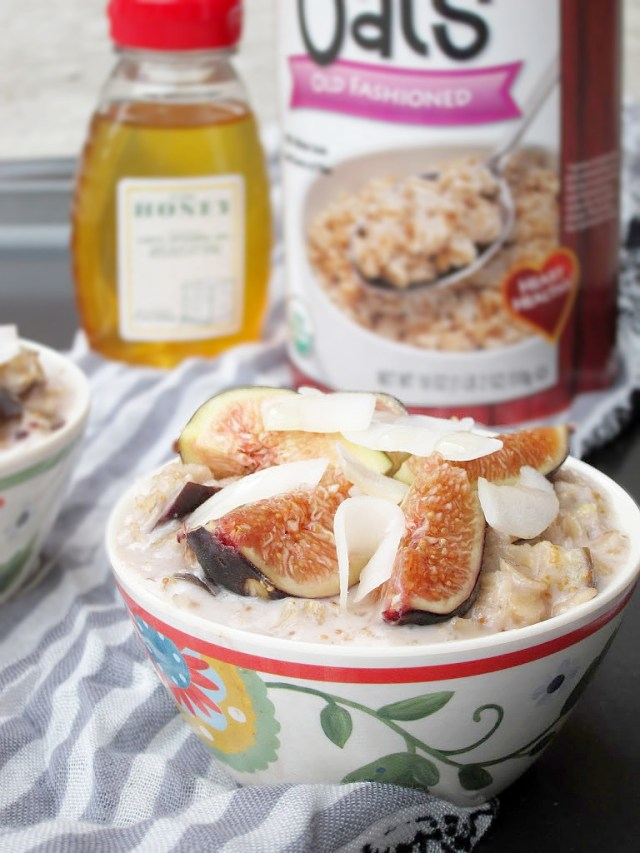 Coconut, Honey, and Fig Oatmeal