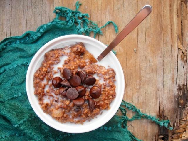 Salted Chocolate Pear Oatmeal | The Oatmeal Artist
