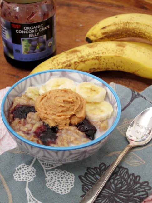 Banana PB&J Oatmeal - The Oatmeal Artist