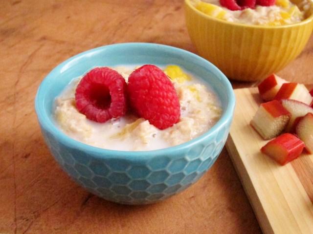 Rhubarb Mango Oatmeal - The Oatmeal Artist