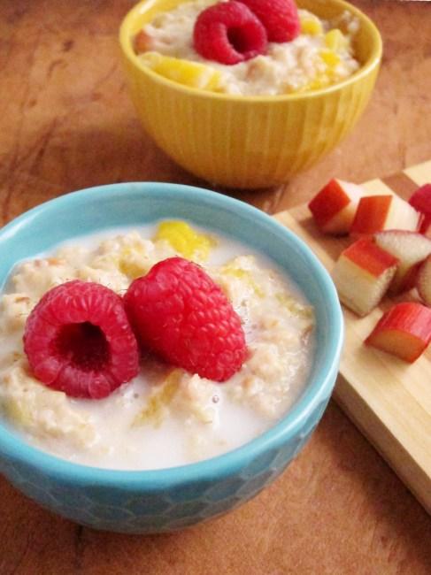 Rhubarb Mango Oatmeal by The Oatmeal Artist #vegan