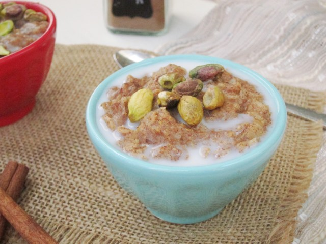 Baklava Oatmeal by the Oatmeal Artist - made from zucchini!