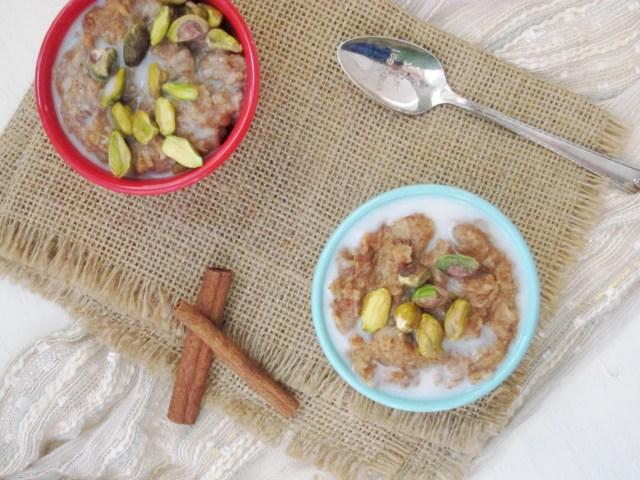 Baklava Oatmeal - made from zucchini!