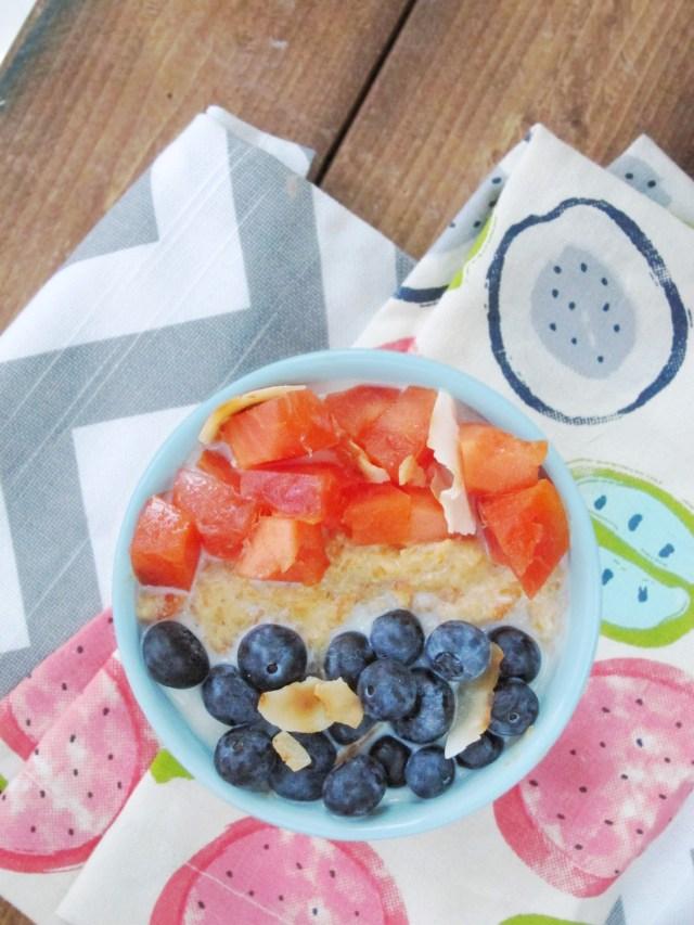 Papaya Blueberry Oatmeal by The Oatmeal Artist
