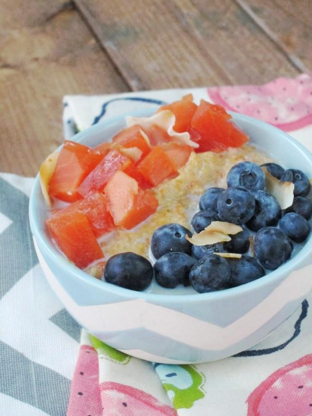 Papaya Blueberry Oatmeal