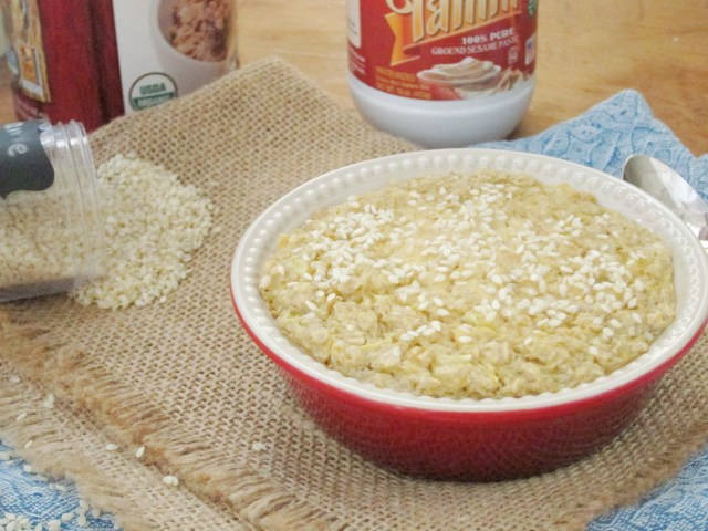 Tahini Cookie Baked Oatmeal with Sesame King Tahini by #OatmealArtist