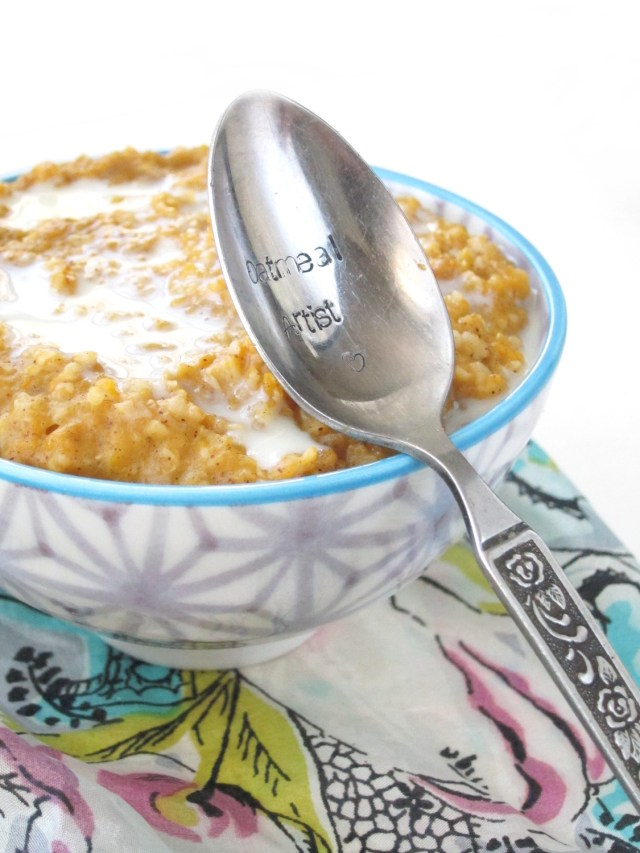 Cardamom Butternut Squash Oatmeal by the #OatmealArtist