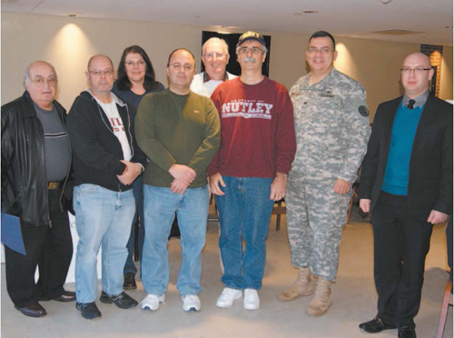 Photos by Karen Zautyk Col. Richard Gonzales welcomes Nutley contingent to West Pointblood drive.