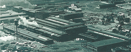 Photo courtesy of Anthony ComprelliHarrison was fi lled with factories when this 1939 photo was taken. The image here has been cropped for space and shows just a few of them, including massive Worthington Pump.