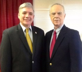 Photo by Courtney JohnsonCommissioner Steven Rogers (l.) and bureau head Robert DeBello.