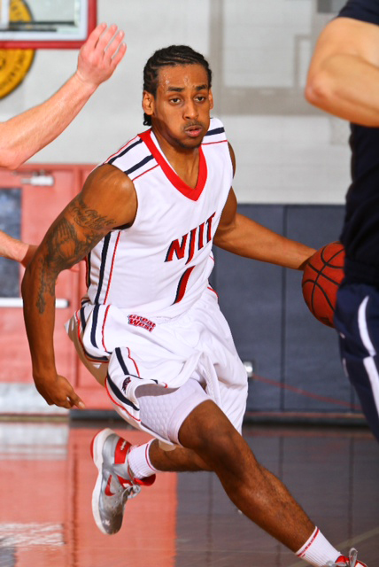 Photo courtesy Larry Levante of NJIT Athletics Senior guard Chris Flores is the NJIT leading scorer this season, averaging 15.5 points per game.