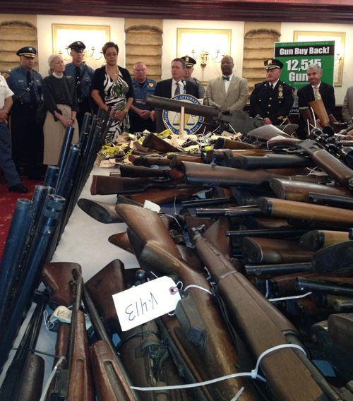 Photo courtesy N.J. Attorney General's Office A now-familiar scene: More weapons turned in, these from Cumberland County