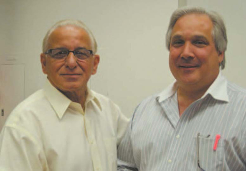 Observer file photo Once allies, now foes: Mayor Robert Giangeruso (l.) and former Mayor Richard DiLascio.