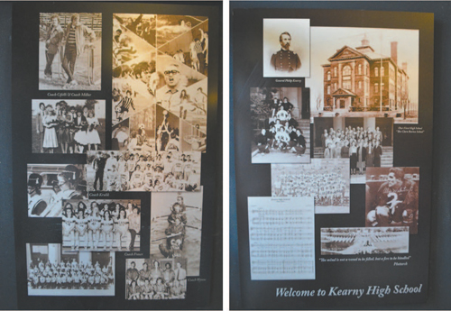 Photo courtesy Jack Grimm Perspectives on student activities and famous alums through the years are represented in photo montage.