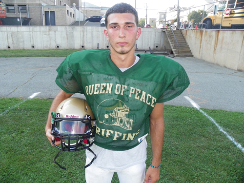 Photos by Jim Hague QP senior quarterback Anthony Villano is a deadly threat as a passer or a runner