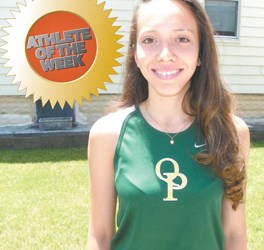 Photo by Jim Hague Queen of Peace senior track standout Natalie Negroni.