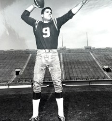 Photos courtesy George Schifano The late Tom Longo is shown in a jumping and passing photo from his days at Notre Dame.