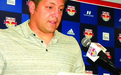 Photos by Jim Hague Kearny native Tony Meola meets the press Sunday at Red Bull Arena in Harrison to discuss being selected to the Red Bulls' franchise all-time best squad, marking the 20th anniversary of the franchise.
