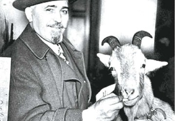 William 'Billy Goat' Sianis and Murphy, back in the day.