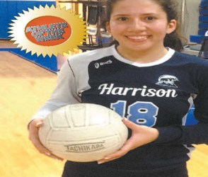 Photo courtesy Anthony Sabia Harrison junior outside hitter Maria Barreto.