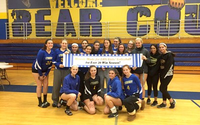 Photo courtesy Emily Ringen The Lyndhurst girls' volleyball team won 21 matches this season, setting a new school record for wins in a season