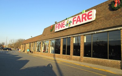 Photo by Ron Leir Fine Fare logo has been mounted over the former Food Basics store at Main St. mall.