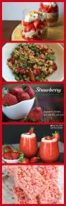 A delicious round-up of all things Strawberry! Includes Strawberry Salsa, Strawberry Short Cake, Strawberry Jam and MORE!
