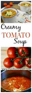 Easy Creamy Tomato Soup Recipe- a delicious soup you will want to make over again with the cool Fall weather ahead! The perfect comfort food!