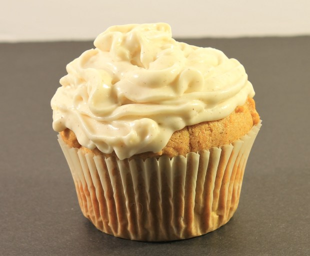 Pumpkin Muffin Recipe with Spiced Cream Cheese Frosting