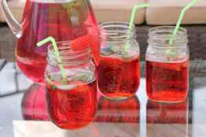 Strawberry Mint Cocktail Drink Recipe