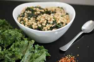 White Bean and Kale Salad Warm or Cold