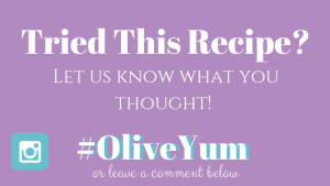 Tried this recipe, let us know with a comment or #OliveYum on Instagram