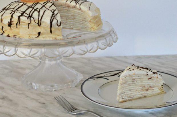 Chocolate Orange Cream Crepe Cake Recipe
