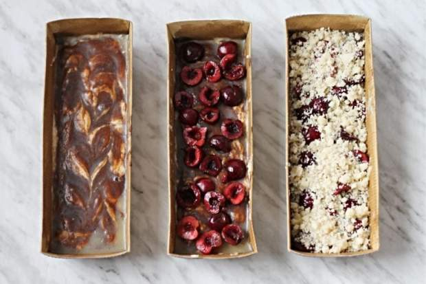 Cherry-Coffee-Cake-Before-Cooking