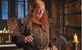 Stephen Fry as the Master of Lake-Town