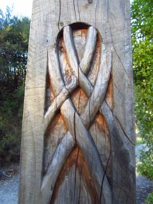 Elven carvings.