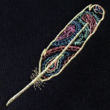 Paisley Feather Embroidery Design