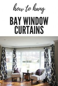 How To Put Up Bay Window Curtains | Boatylicious.org