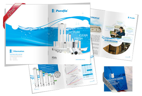 Creative brochure design, leaflet design, commercial brochure design