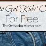 How to Get Children's Clothes for Free