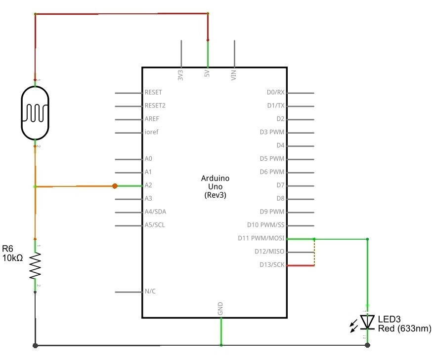 Photocell (LDR) Sensor with Arduino - theoryCIRCUIT - Do It Yourself