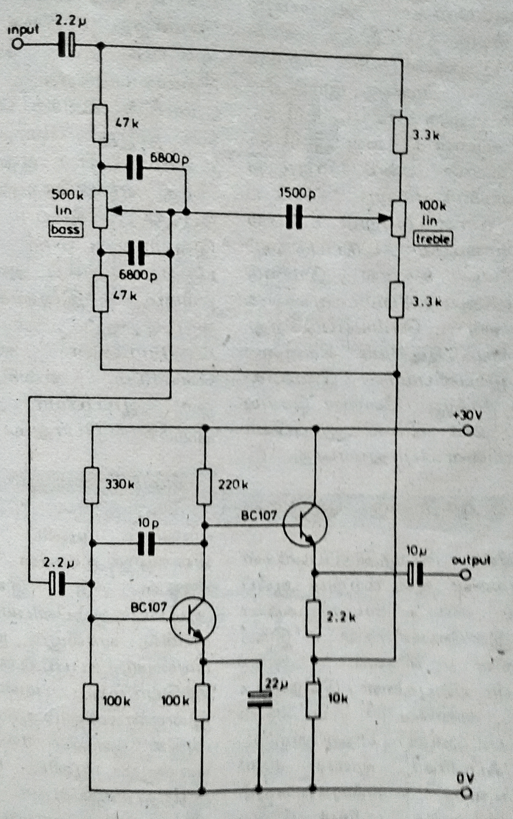 tone control circuit using lm1036
