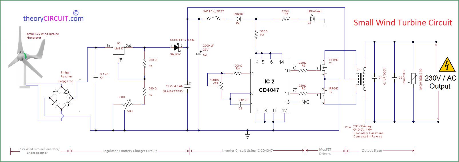 wind generator wiring diagram for dc