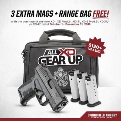 Springfield Armory Announces All XD Gear Up Promotion - ThinkingAfield.org
