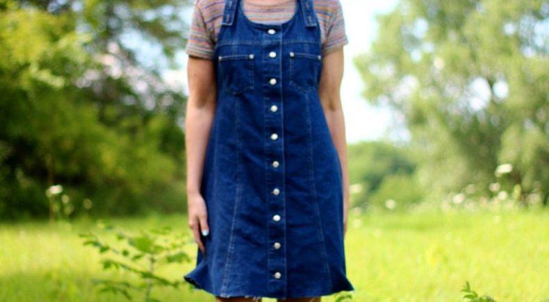 rainbow-crop-top-denim-jumper-blue-hair-outfit-08