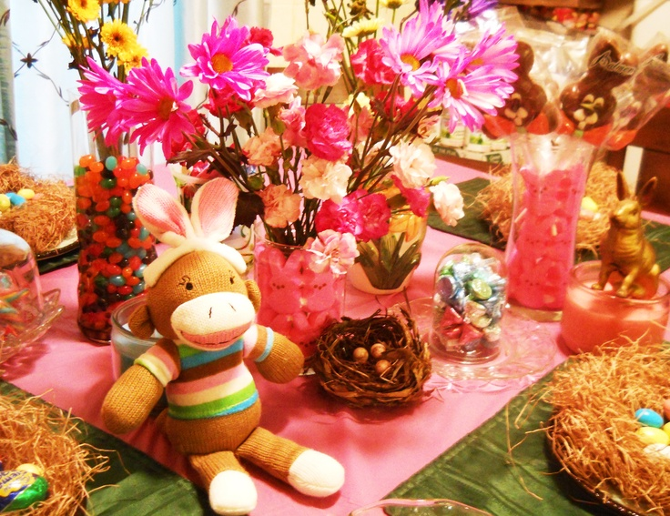 Easter candy table