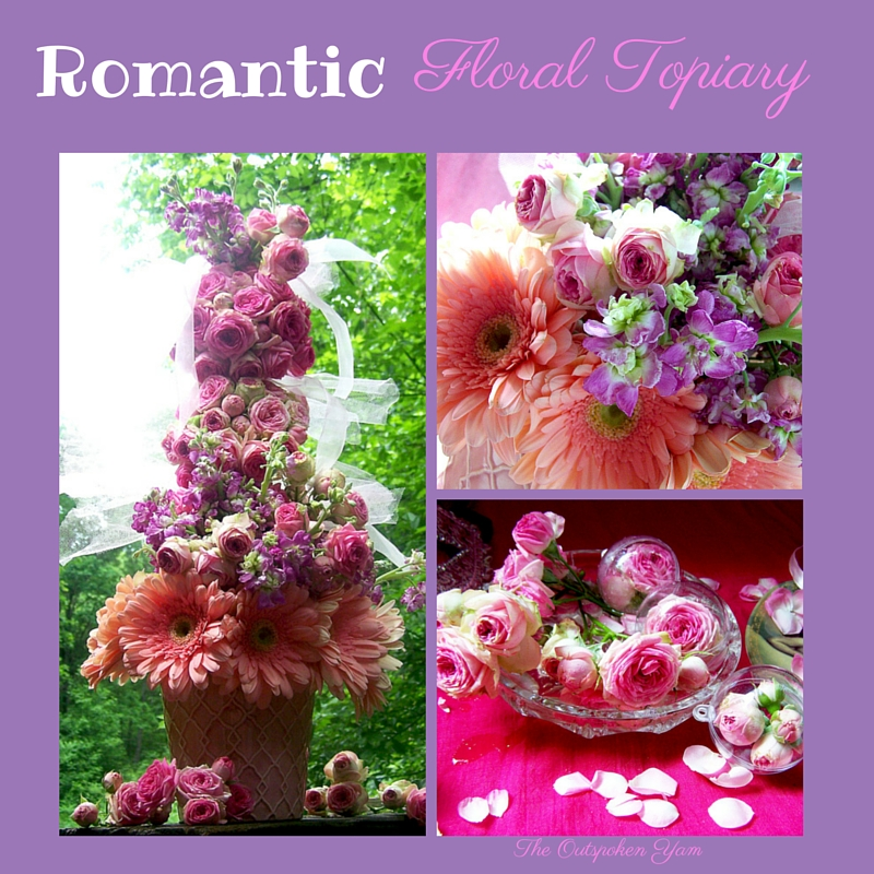 Romantic Floral Topiary