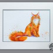 Ginger Nut – Maine Coon Cat Painting