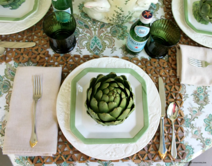 artichoke-lettuce-plate-beaded-placemat-table-setting-the-painted-chandelier